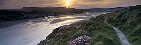 dawn from the clifftop, porth