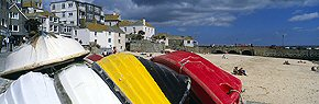 upturned boats at st ives