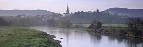 misty morning at ross on wye