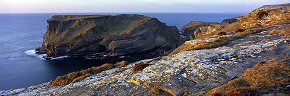 the cliff at tintagel