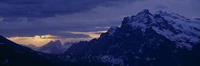dawn light beyond the wetterhorn