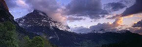 evening cloudscape on the eiger