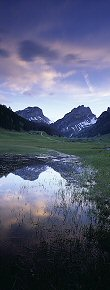 refelctions in samtisersee, appenzell