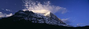 morning cloud on the eiger