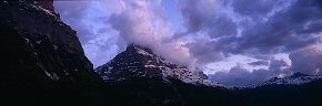 pink light on the eiger