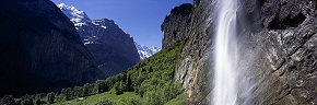 sunlight on staubbach, lauterbrunnen