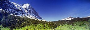 the eiger and tschuggen from grindelwald