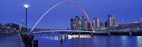 millennium bridge in red