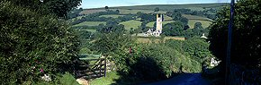 widecombe church in summer