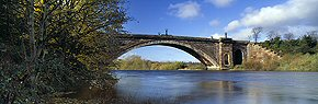 grosvenor bridge, river dee, chester