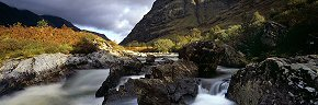 falls of glencoe, sunlight