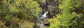 gorge at dog falls, river affric