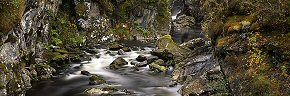 gorge on the river affric