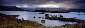 light on the horizon, lochan na l'achlaise