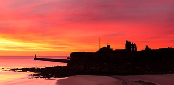 tynemouth priory sunrise card