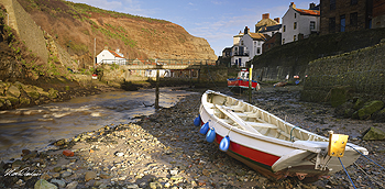 staithes boat card