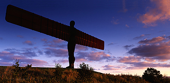 angel of north evening card